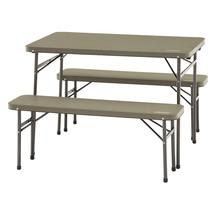 Coleman Folding Table & Bench 3P Set