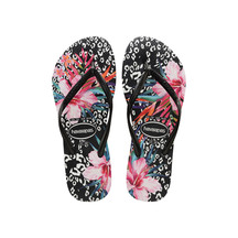 Havaianas Slim Animal Floral - Black