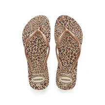Havaianas Slim Animals - Beige/Ocher Metallic