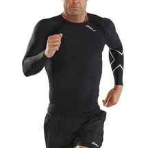 2XU Mens Compression L/S Top - Black