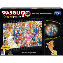 Wasgij Original #29 1000 Piece Jigsaw Puzzle Catching Wed...
