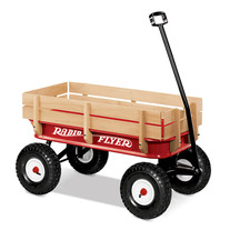 Radio Flyer All Terrain Steel and Wood Wagon
