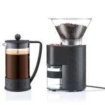 Bodum Electric Burr Coffee Grinder with Bonus Brazil Fren...