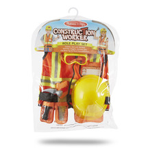Melissa and Doug Construction Worker Costume Role Play Set