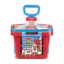Melissa and Doug Rolling Grocery Basket - Pack of Two