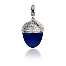 Kagi Electric Blue Acorn Pendant
