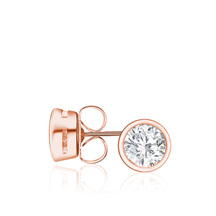 Kagi 18k Rose Gold Celestial Stud Earrings
