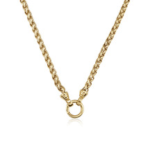 Kagi 18k Gold Helix Chain Necklace 49cm