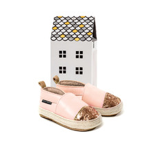 Pretty Brave Espadrille Blush with Rose Glitter