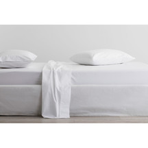 Sheridan 300tc Organic Cotton Sheet Set 40cm - Snow