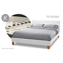 Slat Bed White - King