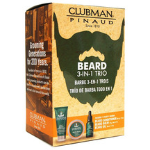 Clubman Pinaud 3 Piece Beard Pack