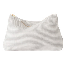 Citta Linen Stripe Wash Bag