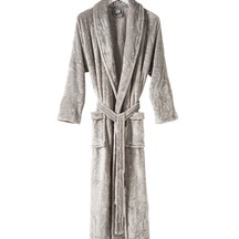 Citta Spot Women's Velour Dressing Gown - Concrete