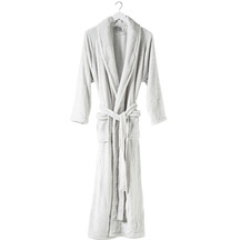 Citta Spot Women's Velour Dressing Gown - Dove Tint/White