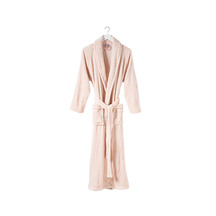 Citta Spot Women's Velour Dressing Gown - Peony/White