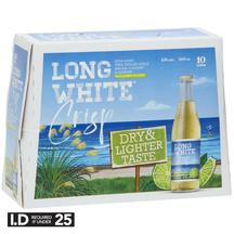 Long White Crisp Lime Soda 4.5% 10 Pack 320ml Bottles