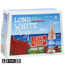 Long White Crisp Cranberry Soda 4.5% 10 Pack 320ml Bottles
