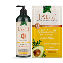 A'kin Rosemary Shampoo & Conditioning Hair Mask Duo