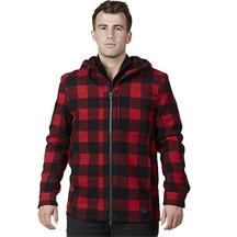 Swanndri Hudson Wool Hoody Red/Black