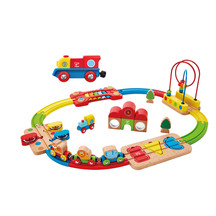 Hape Rainbow Puzzle Railway & Little Engine