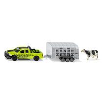 SIKU 1:50 Dodge RAM 1500 Ute w Livestock Trailer