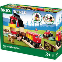 BRIO Farm Railway Set - 20 pieces