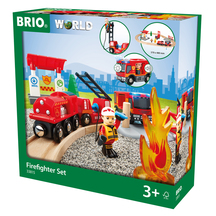 BRIO Vehicle Firefighter Set -18 pieces