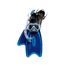 Cressi Onda Mask, Gamma Snorkel and Palau Set - Blue