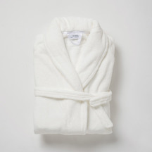 Citta Plain Women's Velour Dressing Gown - White