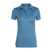 Icebreaker Women's Tech Lite Short Sleeve Polo Thunder