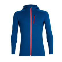 Icebreaker Men's Quantum Long Sleeve Zip Hood Isle