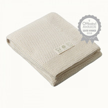 Nature Baby Merino Knit Blanket - Cot Size