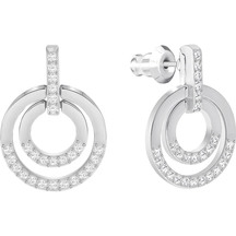 Swarovski Circle Pierced Earrings