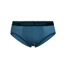 Icebreaker Men's Anatomica Briefs Thunder/Black/Stripe