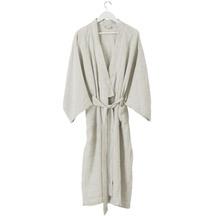 Citta Pinstripe Women's Linen Dressing Gown
