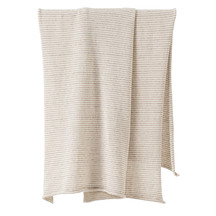 Citta Pinstripe Wool Blend Knit Cot Blanket
