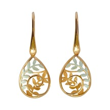 STERLING -Koru Drop Basket Earrings