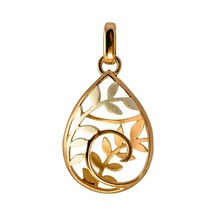 STERLING -Koru Drop Basket Pendant
