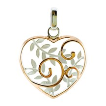 STERLING - Koru Heart Basket Pendant
