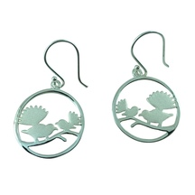 STERLING - Two Fantails Earrings