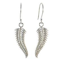 STERLING - Silver Fern Earrings