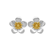 STERLING - Manuka Flower Studs With Gold Plate