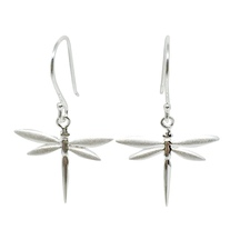 STERLING - Dragonfly Earrings