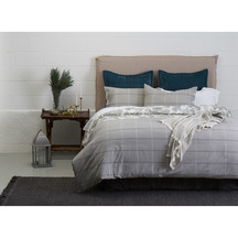 SENECA Abbey Check Slate Duvet Set