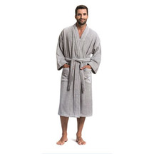 SENECA Lodge Robe - Light Grey