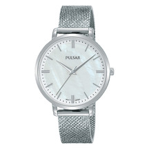 Pulsar Ladies Silver Mesh Bracelet Dress Watch