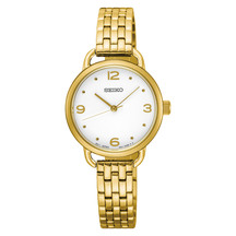 Seiko Ladies Conceptual Gold Dress Watch