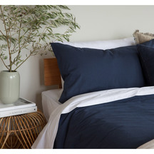 SENECA Mini Spot Navy Bedspread Sheet