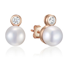 Kagi Rose Pearl Eternity Studs